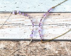 Purple Amethyst Recycled Necklace - Amethyst Chip Ethical Jewellery - Sterling Silver Minimalist Necklace - Dainty Gemstone Necklace thecoastaldesert The Coastal Desert handmade jewellery jewelry