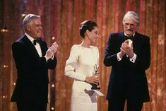 Gregory Peck, George Peppard and Audrey Hepburn