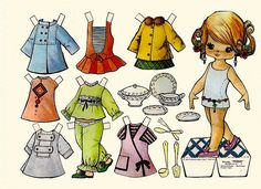 muñecas recortables, paper dolls, Бумажные куклы , bambole da carta, poupées en… All Paper, Paper Art, Paper Crafts, Paper Dolls Printable, Kawaii Doodles, Creation Deco, Dress Up Dolls, Doll Quilt, Vintage Paper Dolls