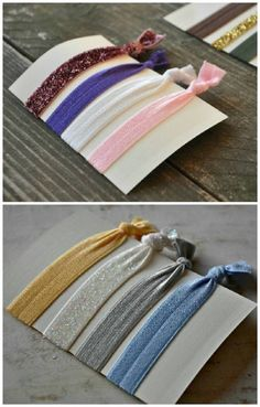 DIY hair ties (this is really not a even difficult enough to be considered a craft)