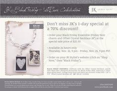 Get entered into your chance to win all the hostess rewards -just go to sheridurham.jewelkade.com and attach your party to Black Friday giveaway! Only available for 24 hours starting at 9pm on Thanksgiving