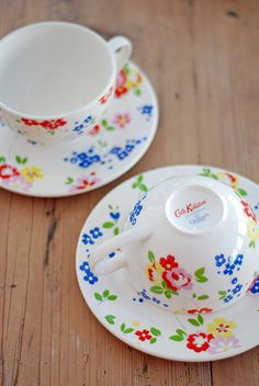 Cath Kidston ~ Cups and Saucers Tea Cup Saucer, Tea Cups, Pip Studio, Cath Kidston, Vintage Tea, Vintage Crockery, High Tea, Afternoon Tea, A Table