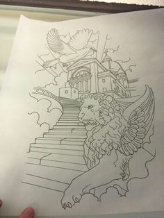 Stairway to heaven tattoo sketches pinterest for Stairway to heaven tattoo chest