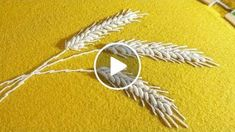 Guide to embroidery wheat pattern for beginners and more experienced embroiderers. DIY stitch any of pattern using these stitches, If you've embroidered any other designs based on Bullion Stitch and Stem stitch technique, I would love to see them. H