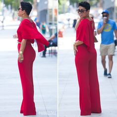 Red Cape Jumpsuit #Zara #MimiGStyle