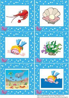 tengeri állatok flashcards szavak nélkül