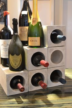 Etsy の Concrete Wine Bunker Free Shipping by decoratelier