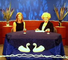 CT wedding officiants Mary Coburn (left) and Zita Christian (right) on the set of Weddings with Zita