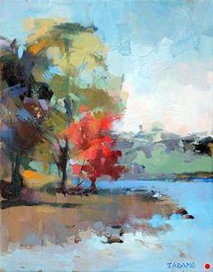 Water's Edge by Trisha Adams Oil ~ 14 x 11.