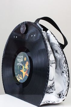 Smashing Pumpkins + Prodigy Vinyl Record Handbag - Sue Coccia design fabric (sea creatures) https://www.etsy.com/shop/PolyphonicPT
