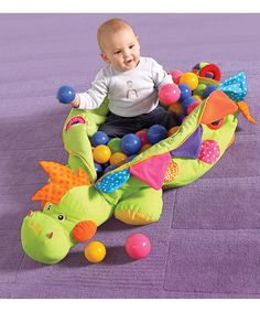 Dinosaur Ball Pit - Daddy may not appreciate it, but I bet Baby Girl and the cat would love it :p