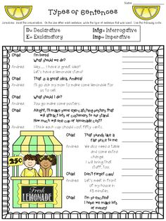 Worksheet Declarative Imperative Interrogative Exclamatory Worksheet types of sentences posters worksheets and interactive notebook worksheet freebie declarative imperative exclamatory interrogative http
