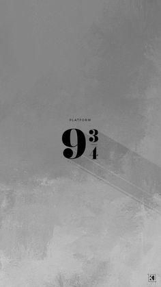 Platform 9 and 3/4 minimal aesthetic poster design | Phone Wallpaper Backgrounds by KAESPO