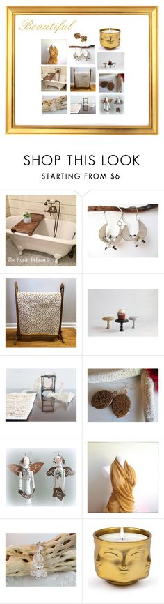 """Handmade Etsy Gifts"" by therusticpelican ❤ liked on Polyvore featuring Jonathan Adler, modern, contemporary, rustic and vintage"