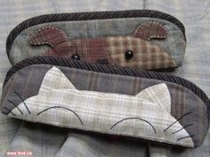 Trousse chat ou chien - Couture tricot crochet broderie et patchwork