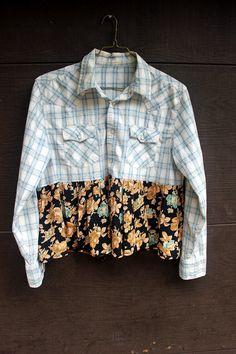 Boho Fall Shirt, Junk Gypsy Style by RevivaL Eco-Friendly Clothing