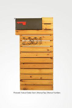Modern Mailbox - Natural Cedar by ModernistMailbox on Etsy https://www.etsy.com/listing/169643508/modern-mailbox-natural-cedar