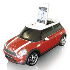 MINI COOPER iPhone Docking Station...its too bad this is for the IPhone 4, Dad would have loved this for Fathers Day.