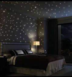Starry night bedroom