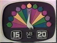 The NBC Peacock would come on around 1am when all TV shows went off the air. God bless cable!