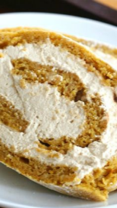 Low Carb Pumpkin Roll Recipe ~ A delicious low carb, gluten-free pumpkin roll filled with coffee whipped cream