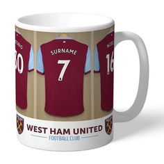 West Ham United Football Club Dressing Room Mug - West Ham Gift - West Ham Football Gift West Ham Football, Football Gift, West Ham United Fc, Gifts For Sports Fans, Puppy Gifts, Personalized Mugs, Valentine Gifts, Dressing Room, Best Gifts
