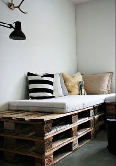 corner couch- clever, maybe for the spare room/ office