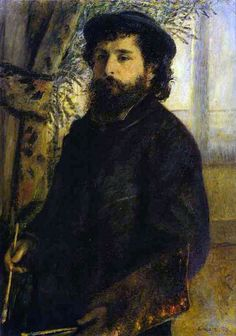 Portrait of Claude Monet by Pierre-Auguste Renoir