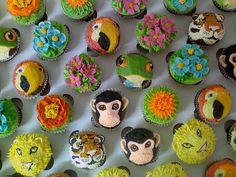 Tropical Animal Cupcakes