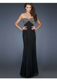 A-line Sweetheart Chiffon Black Long Prom Dresses/Evening Dress With Beading #FC009 - See more at: http://www.victoriasdress.com/prom-dresses/long-prom-dresses.html?p=2#sthash.4H9TYyQW.dpuf
