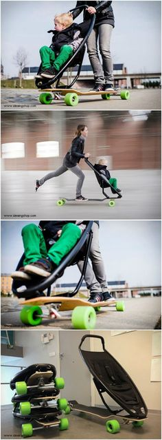 If you have kids and want them to enjoy the passion of skateboarding from an early age, you may try this one.Always make sure you both wear a safety helmet – for the Longboard Stroller can achieve some speed!