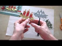 Memory Box Glowing Candles and Die Piecing... - YouTube