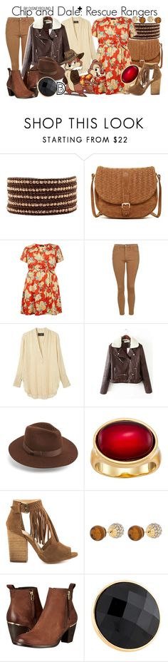 """Chip and Dale+: Rescue Rangers"" by leslieakay ❤ liked on Polyvore featuring Chan Luu, Deux Lux, New Look, Topshop, By Malene Birger, Lack of Color, Karen Kane, Chinese Laundry, Henri Bendel and Steve Madden"