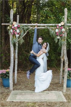 Hip Backyard Wedding