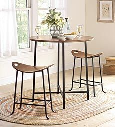 Bar Table And Saddle Seat Stools