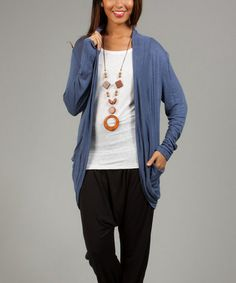 Another great find on #zulily! Jean Mole Mela Open Cardigan #zulilyfinds