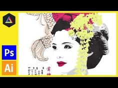 Screen Print Effect | Japanese Geisha | Photoshop, Illustrator Tutorial - YouTube