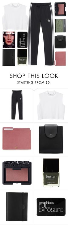 """But wouldn't it be nice to stay together for the night? ♡"" by sunstorms ❤ liked on Polyvore featuring adidas Originals, Monki, NARS Cosmetics, Butter London, Undercover and Smashbox"