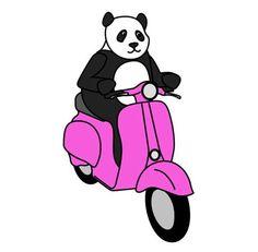 78+ Jenis Gambar Panda Naik Vespa Terlihat Keren
