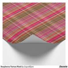 Raspberry Tartan Plaid Wrapping Paper