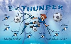 Thunder-Blue-47310  digitally printed vinyl soccer sports team banner. Made in the USA and shipped fast by BannersUSA. www.bannersusa.com