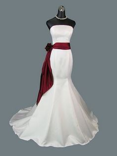 Beautiful Wedding Gown, but minus the ribbon for me...