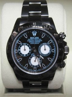 Rolex Daytona DLC/PVD Blue & Black Face - WOW ! Box & Papers | Limited Watches | Buy New & Used Rolex Watches