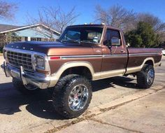 I truly prefer this color scheme for this lifted ford Chevy Trucks, 1979 Ford Truck, Ford 4x4, Ford Pickup Trucks, 4x4 Trucks, Diesel Trucks, Cool Trucks, Custom Trucks, Lifted Trucks