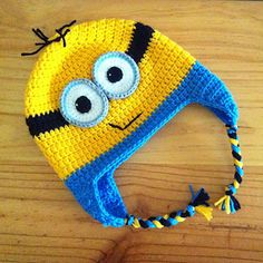 Minion Earflap Beanie by Janet Carrillo. FREE PDF 1/15.