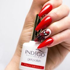 Color Gel Polish Indigo Nails Lab #gelpolish #reddelicious #red #nailart #torino #nailartist #indigonailspiemonte #indigonails #colorful #loveindigonails