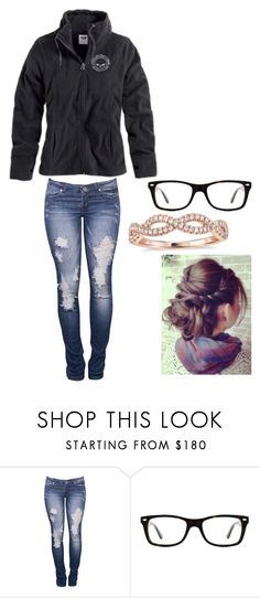 """why do good girls like bad boys?🎵🎵"" by johndeerebabe ❤ liked on Polyvore featuring Harley-Davidson, Ray-Ban and Blue Nile"