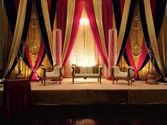 Reception decor in traditional Reds and golds