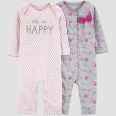 a3d2848ea Baby Girls' Happy Jumpsuit - Just One You made by carter's Coral Newborn,  Pink