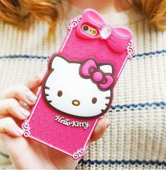 iPhone 6 Plus Hello Kitty Classic Silicone Cute Case on We Heart It